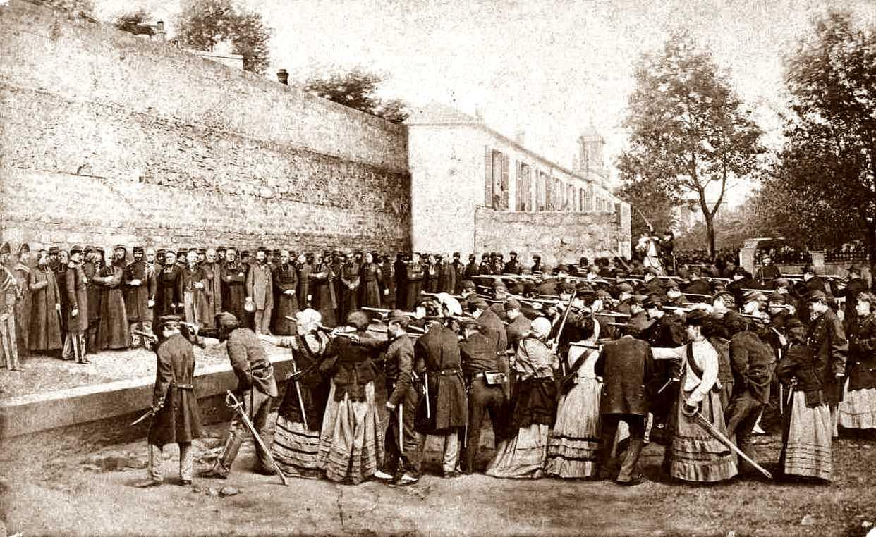 Recreació de les execucions del carrer Haxo. Fotografia d'E. Appert
