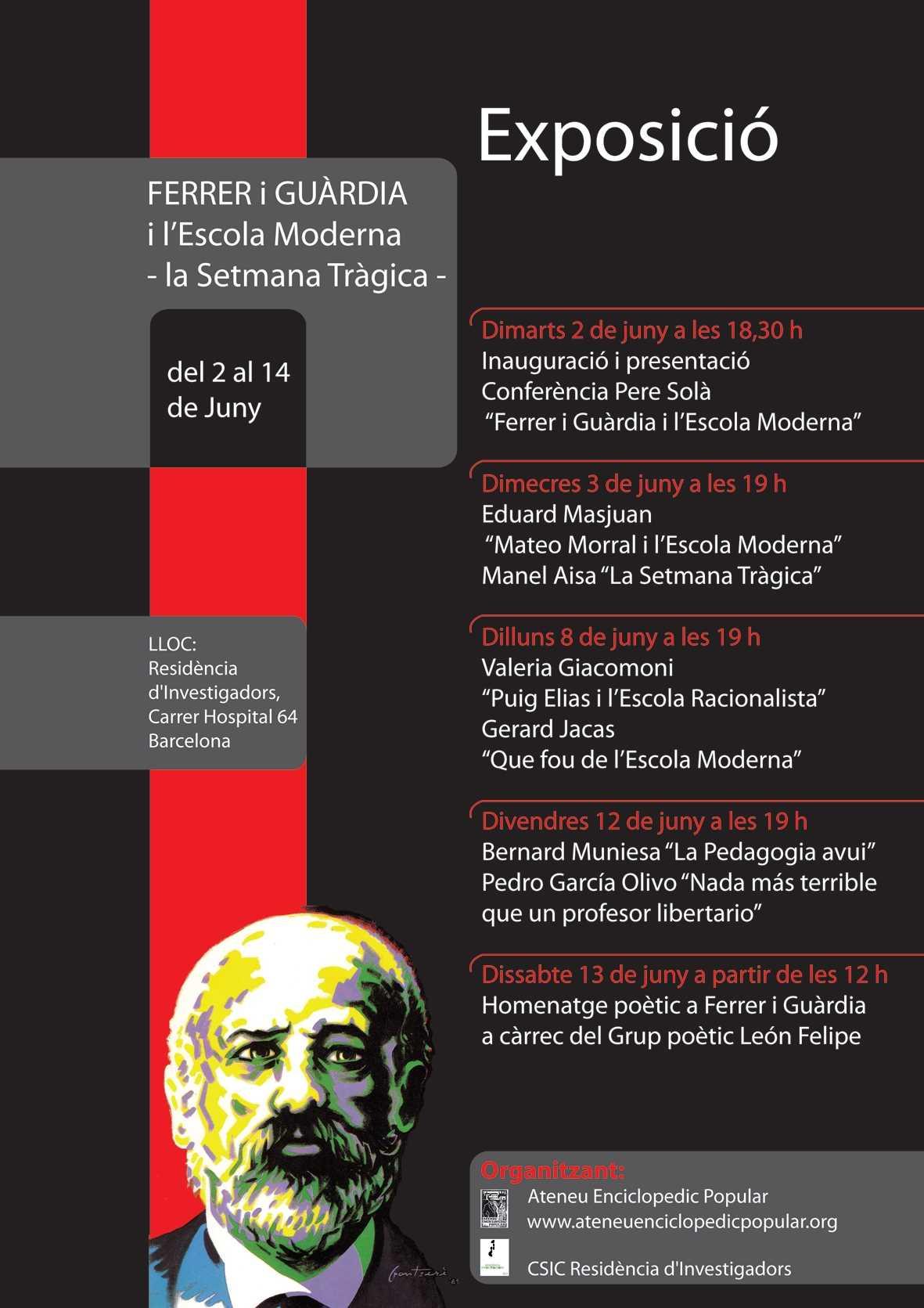 Cartell de l'Exposició Ferrer i Guàrdia