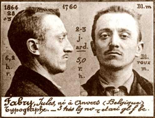 Foto policíaca de Jules Fabry (1894)