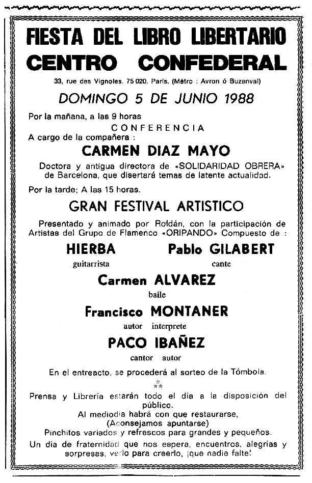 """Propaganda de l'acte apareguda en el periòdic tolosà """"Cenit"""" del 31 de maig de 1988"""