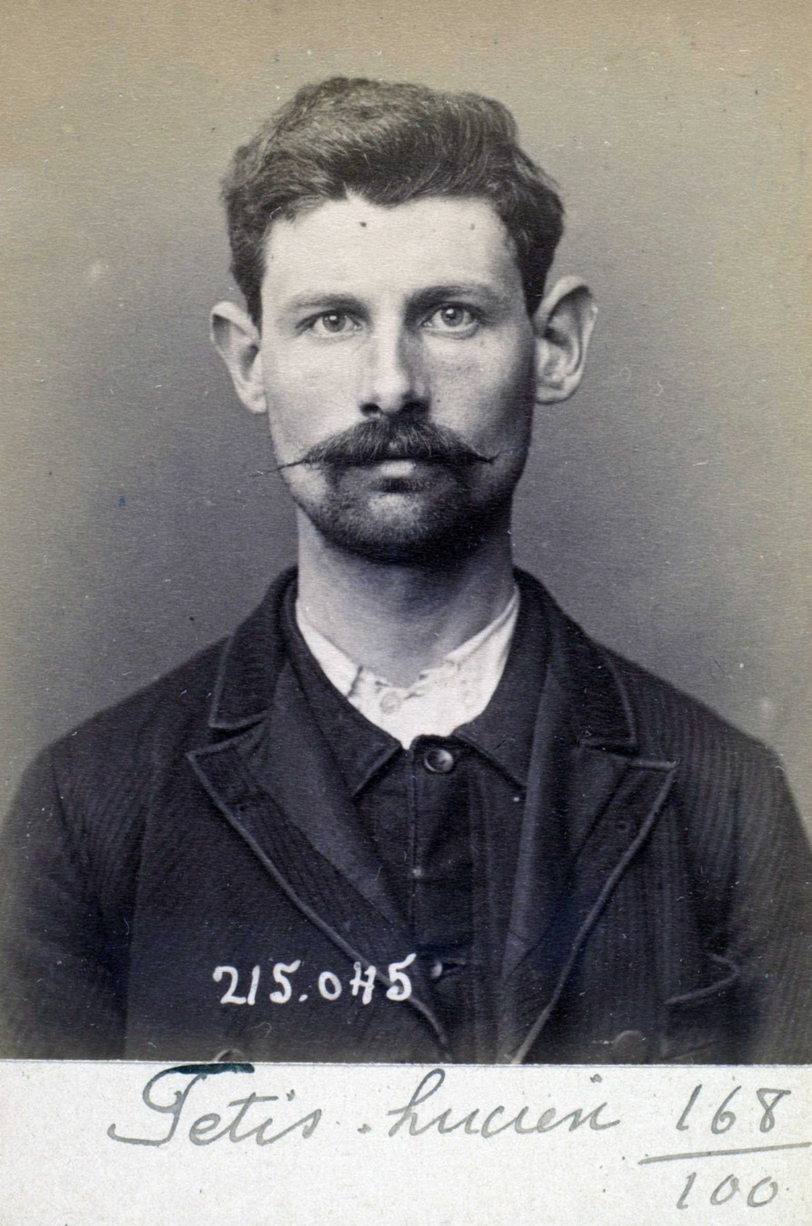 Foto policíaca de Lucien Fétis (3 de març de 1894)