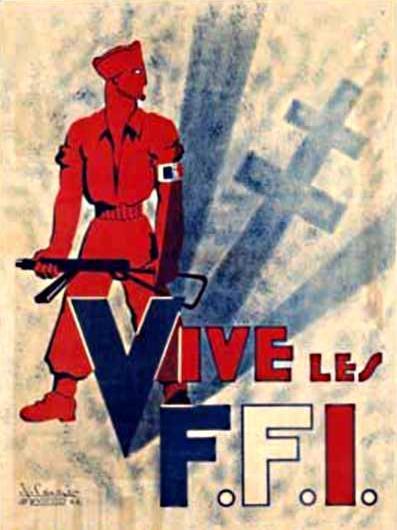 Cartel propagandístico de las FFI