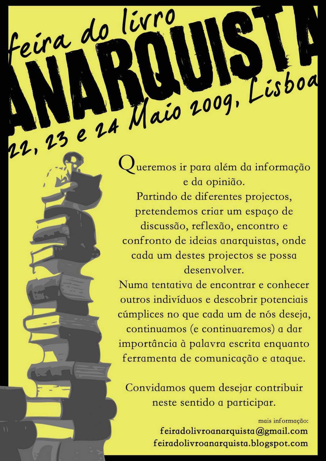 Cartell de la II Fira del Llibre Anarquista de Lisboa