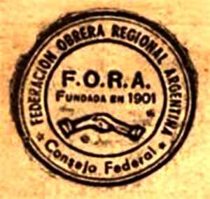Anagrama de la FORA