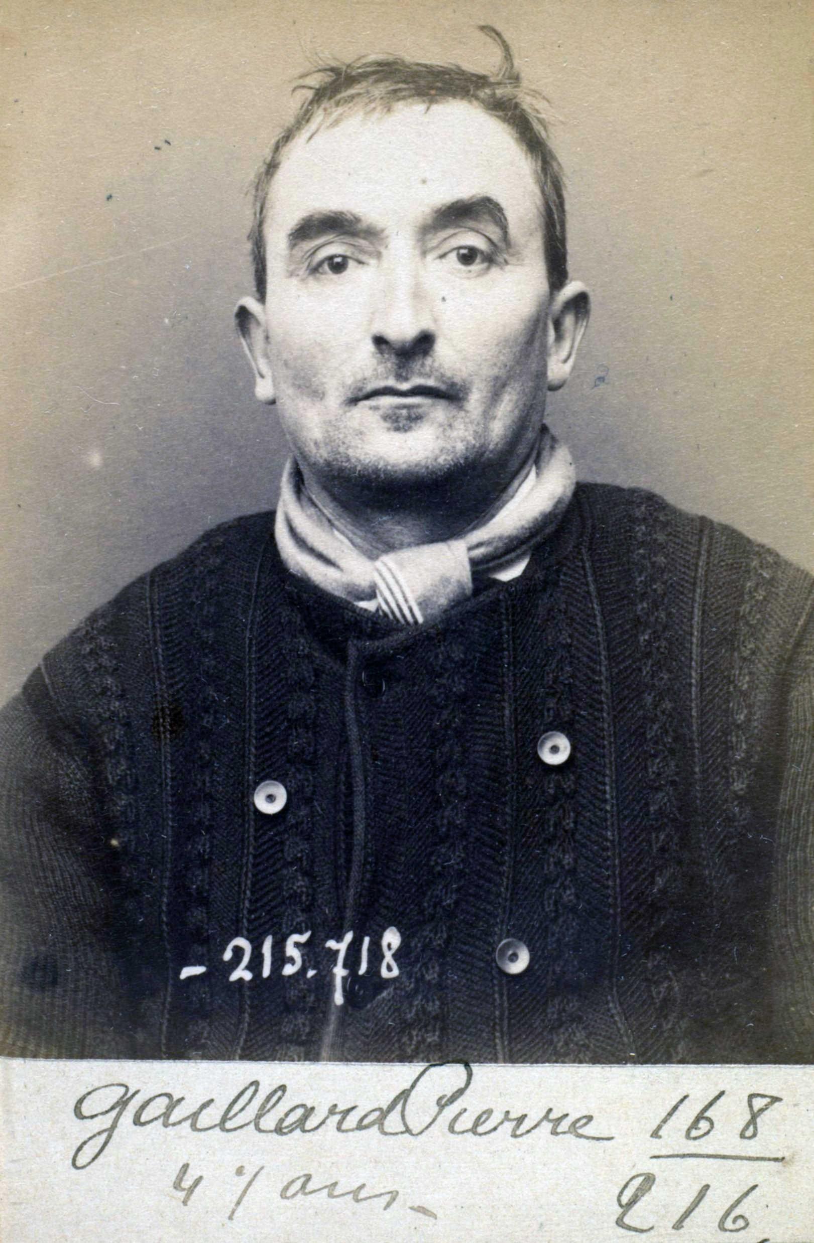 Foto policíaca de Pierre Gaillard (15 de març de 1894)