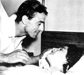 Bernabé Garcia Polanco i la passatgera de l'Andrea Doria Linda Morgan que salvà del naufragi