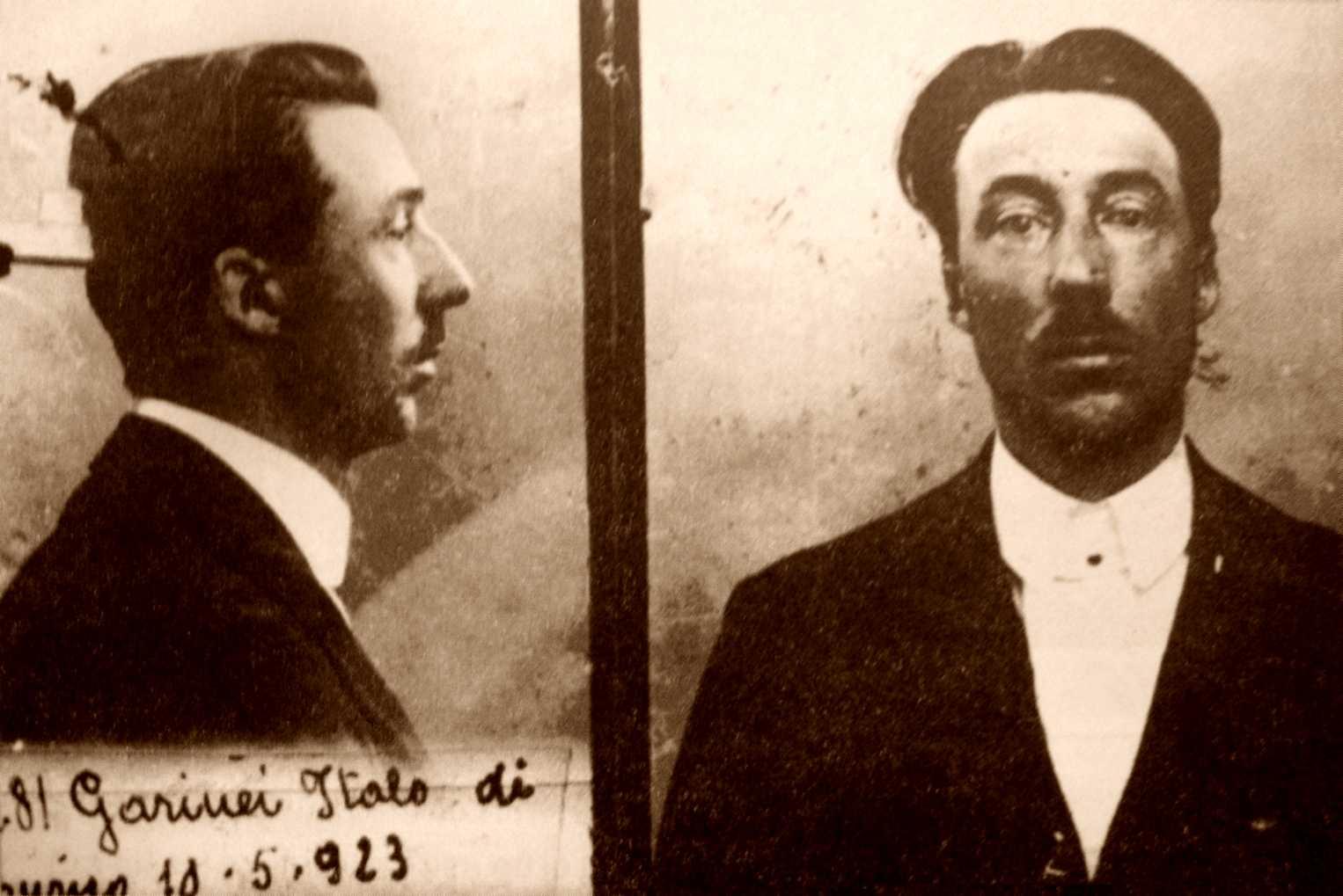 Foto policíaca d'Italo Garinei (1923)