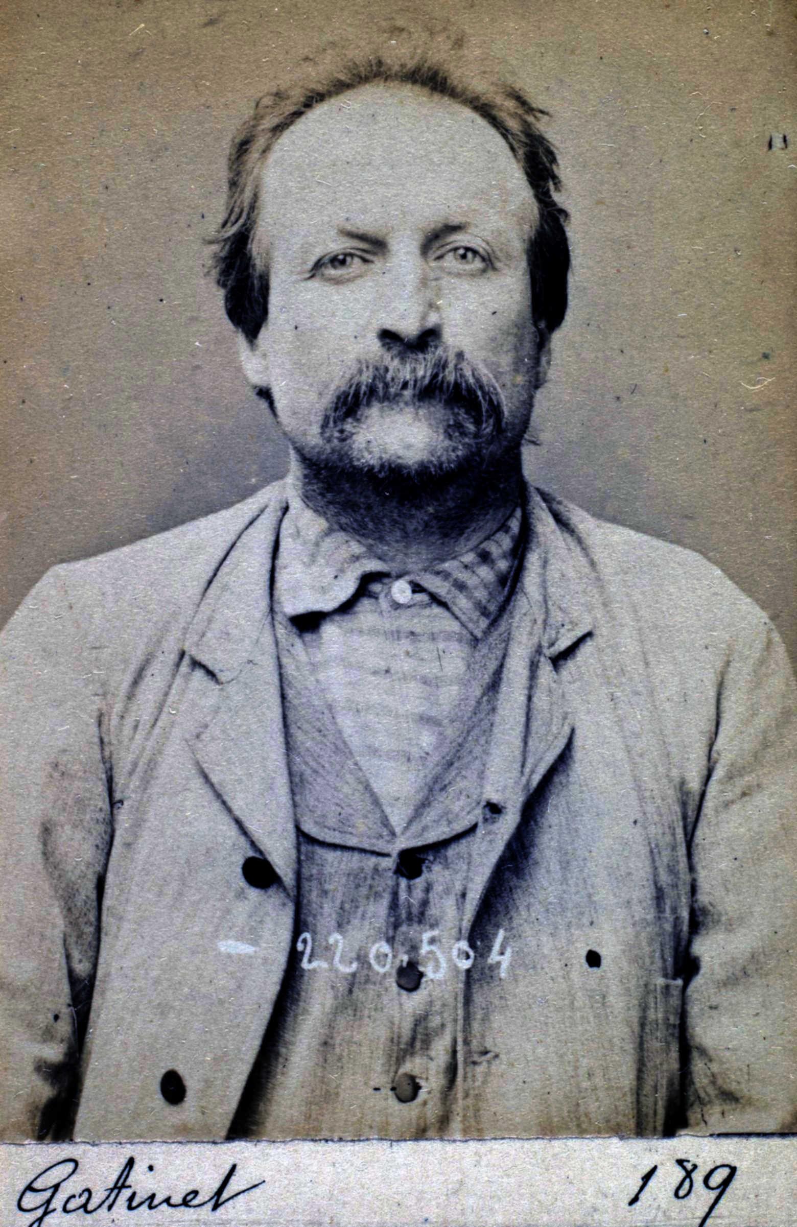 Foto policíaca de Pierre Gatinet (2 de juliol de 1894)