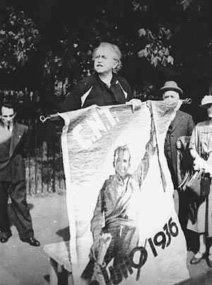 Emma Goldman parlant al Hyde Park (1 de maig de 1937)