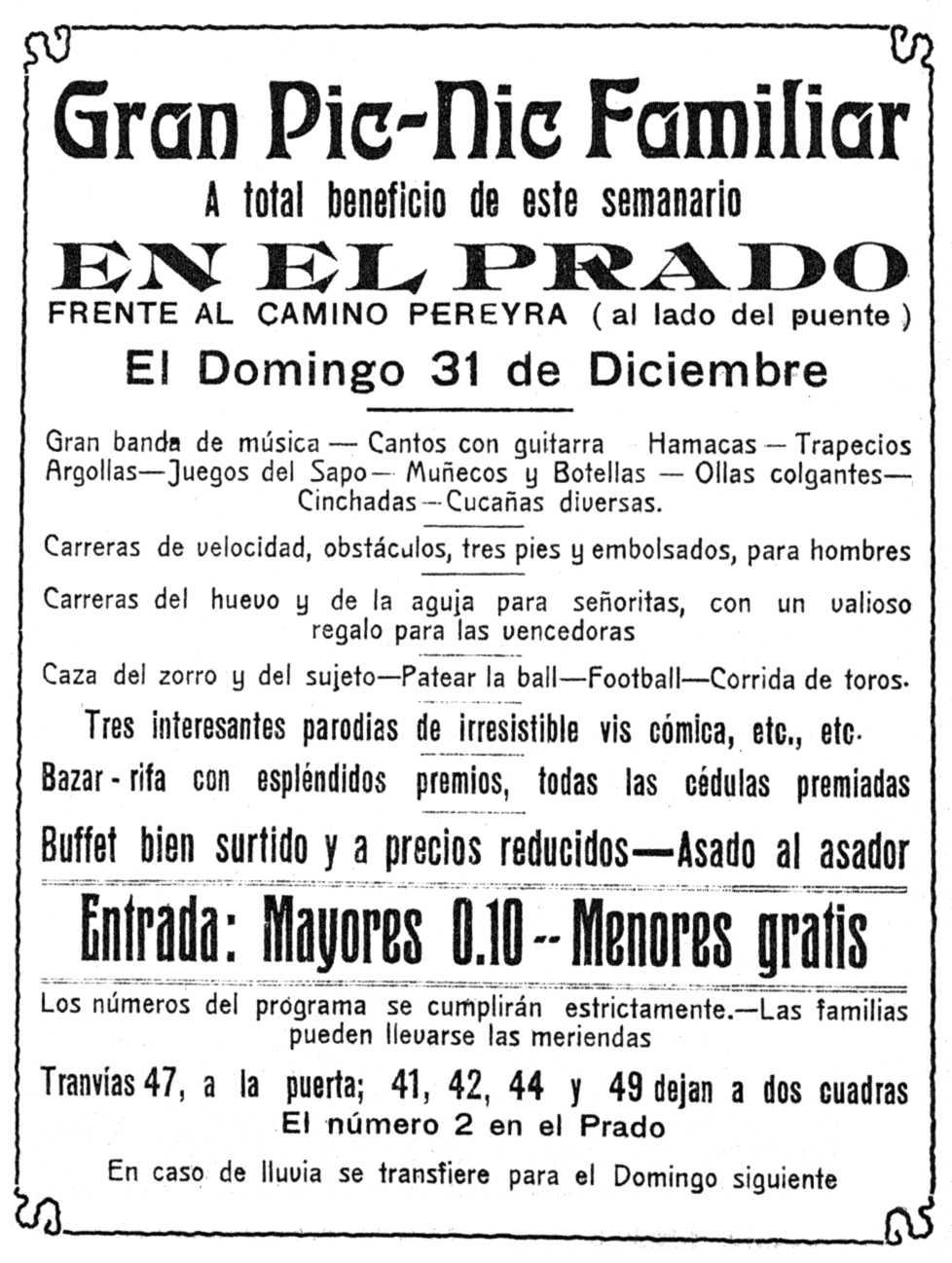"Propaganda de l'acte apareguda en ""El Hombre"" del 23 de desembre de 1916"