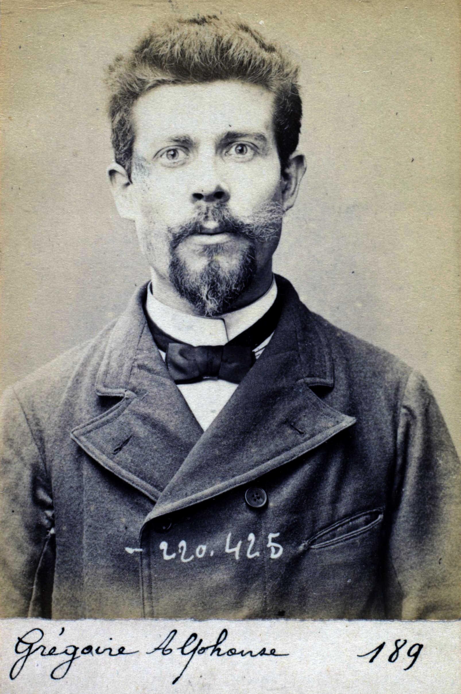 Foto policíaca d'Alphonse Grégoire (2 de juliol de 1894)