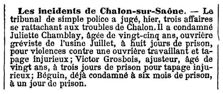 """Notícia de la condemna de Victors Grosbois publicada en el diari parienc """"Le Temps"""" del 9 de març de 1901"""