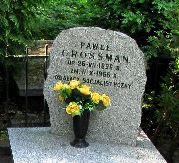 Tomba de Pawel Grossman al cementiri jueu d'Okopowa de Varsòvia