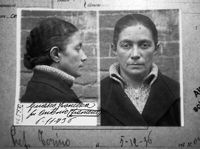 Foto policíaca de Francesca Guasco (1936)