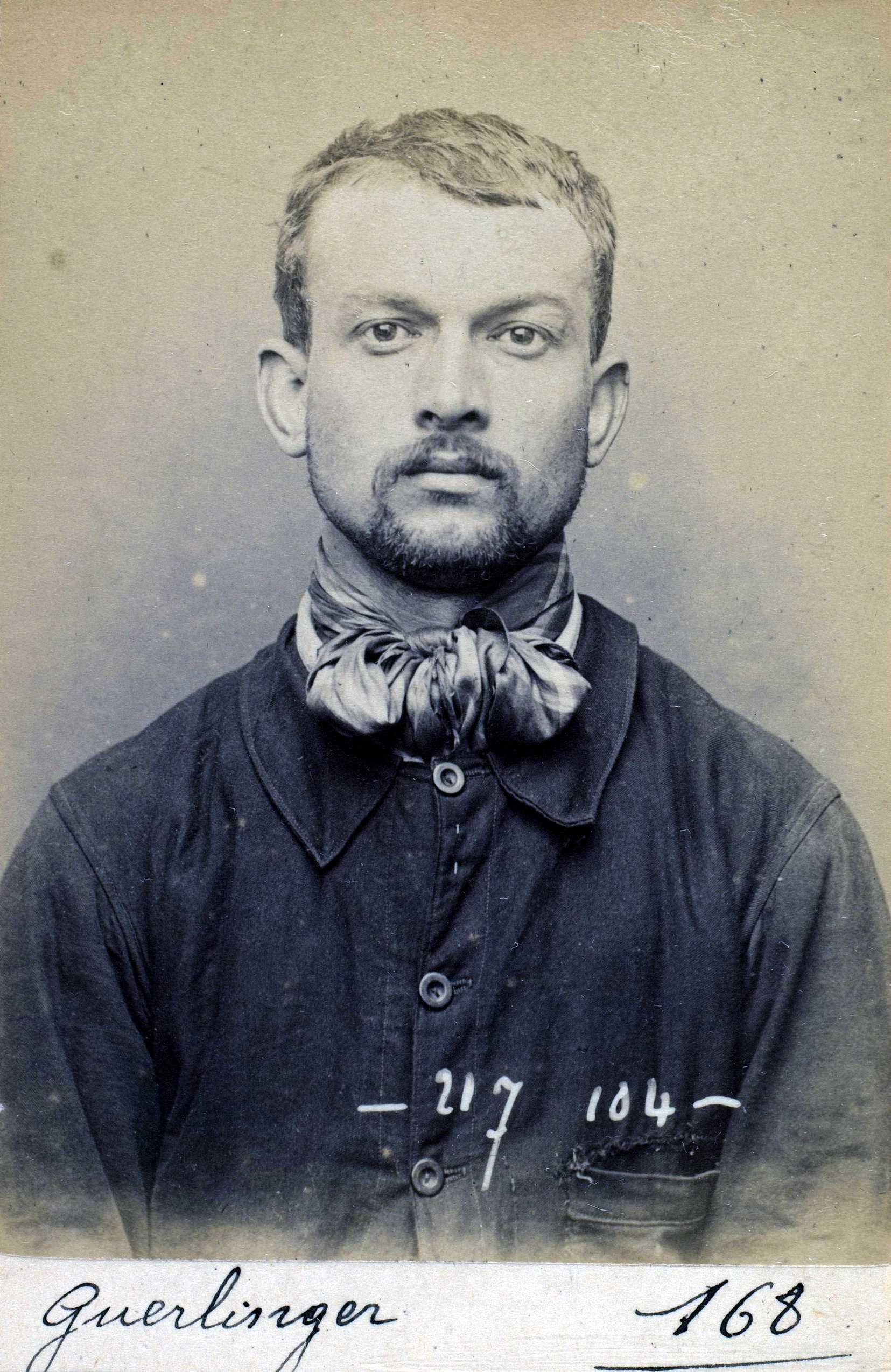 Foto policíaca de Jean-Pierre Guerlinguer (14 d'abril de 1894)