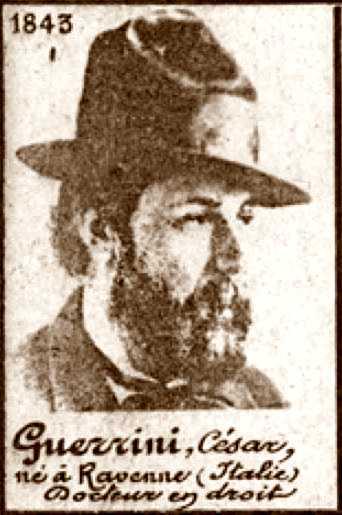 Foto policíaca de Cesare Guerrini (ca. 1894)