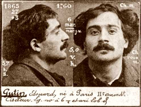 Foto policíaca d'Édouard Guttin (ca. 1894)