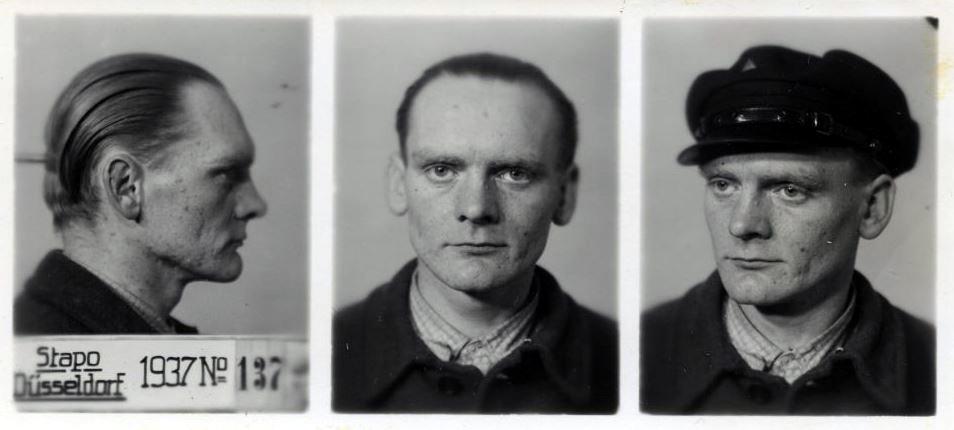 Foto antropomètrica de Hermann Hahn