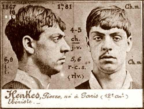 Foto policíaca de Pierre Henkès (ca. 1894)