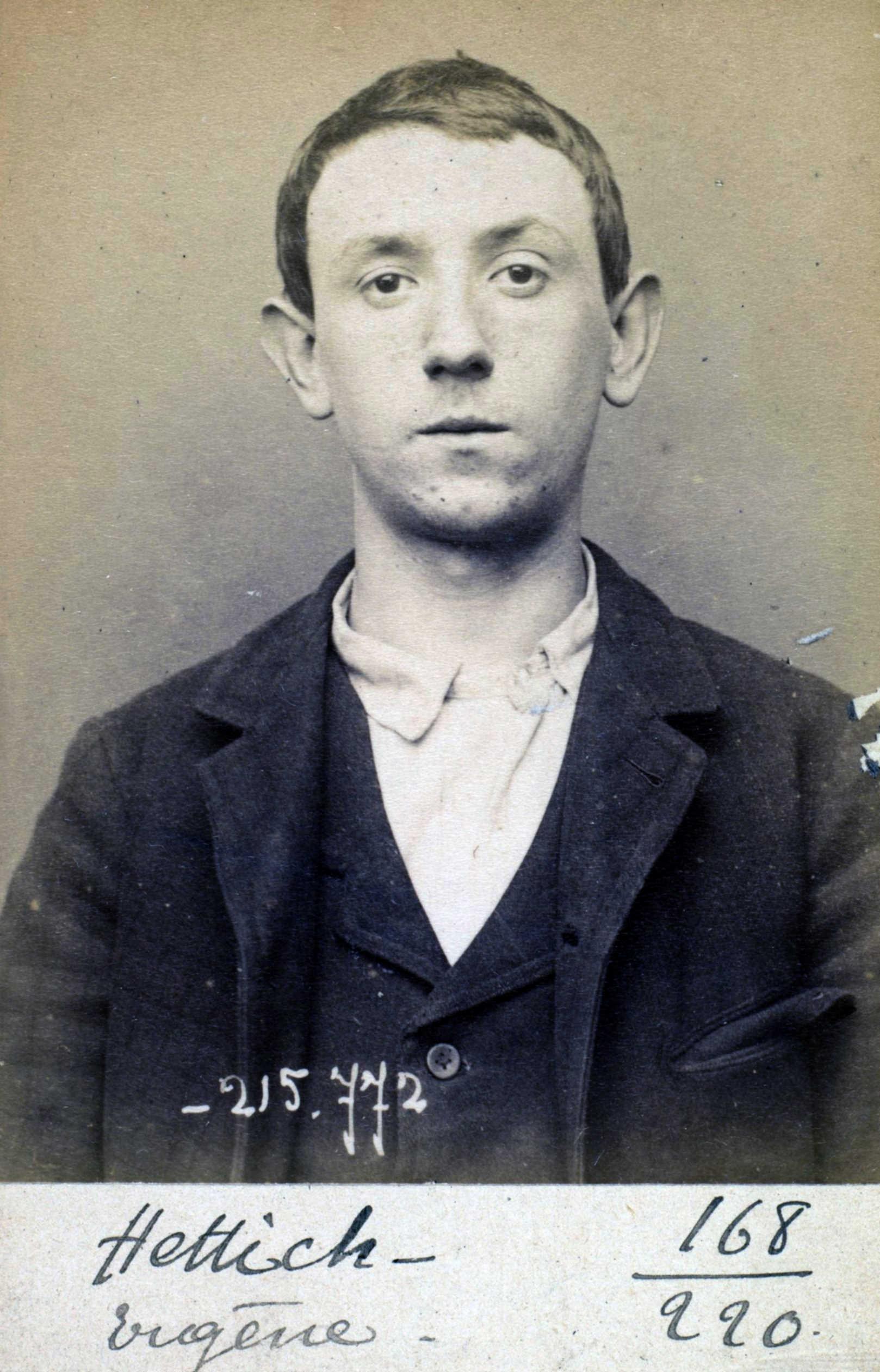 Foto policíaca d'Eugène Hettig (16 de març de 1894)