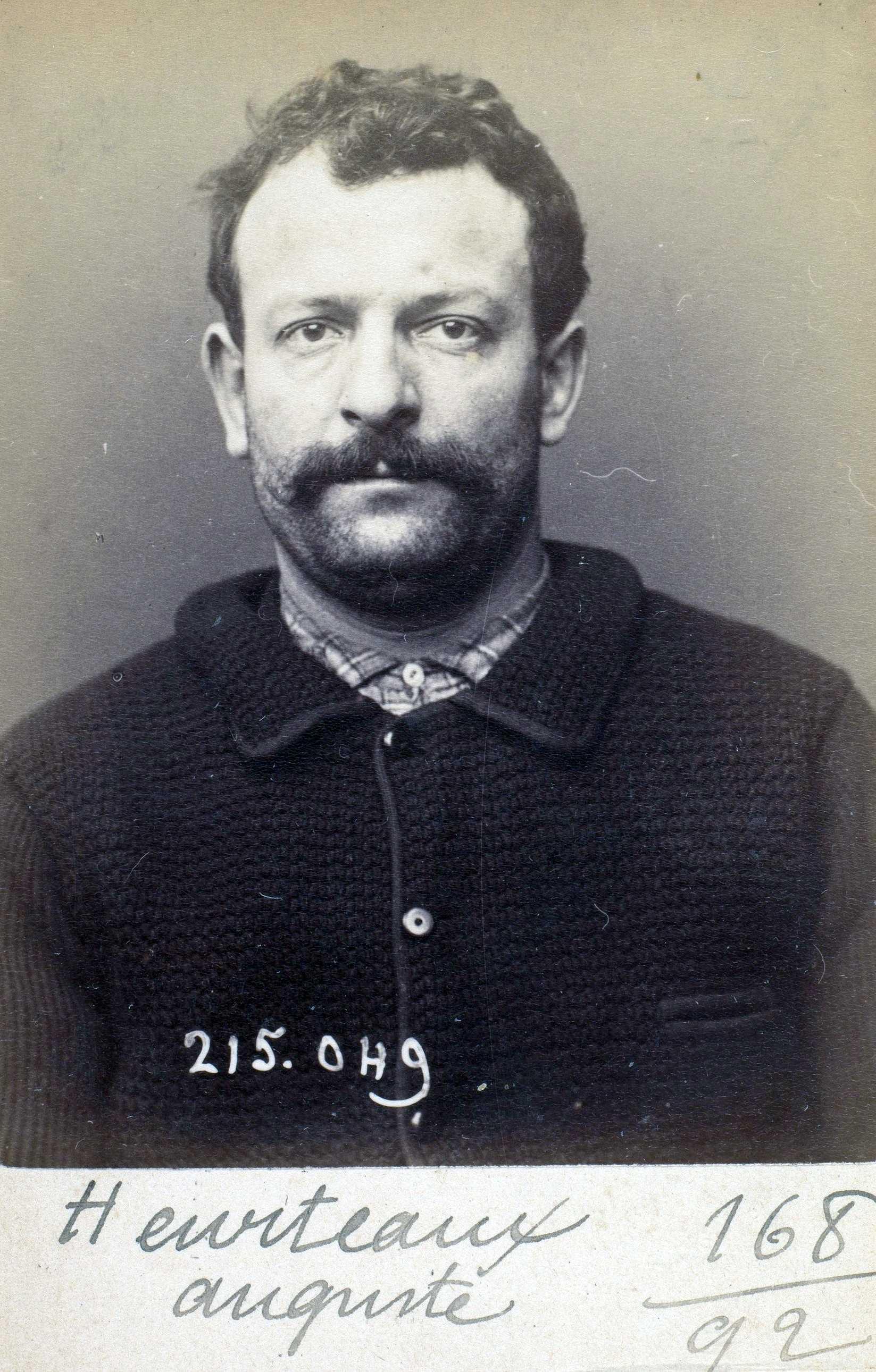 Foto policíaca d'Auguste Heurteaux (3 de març de 1894)