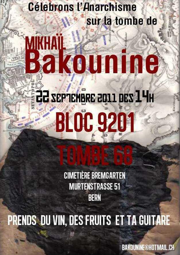 Cartell de l'homenatge a Bakunin