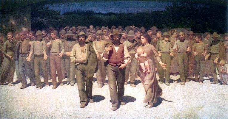 """Pelizza da Volpedo: """"Il Quarto Stato"""" (1901). Civica Galleria d'Arte Moderna de Milà"""