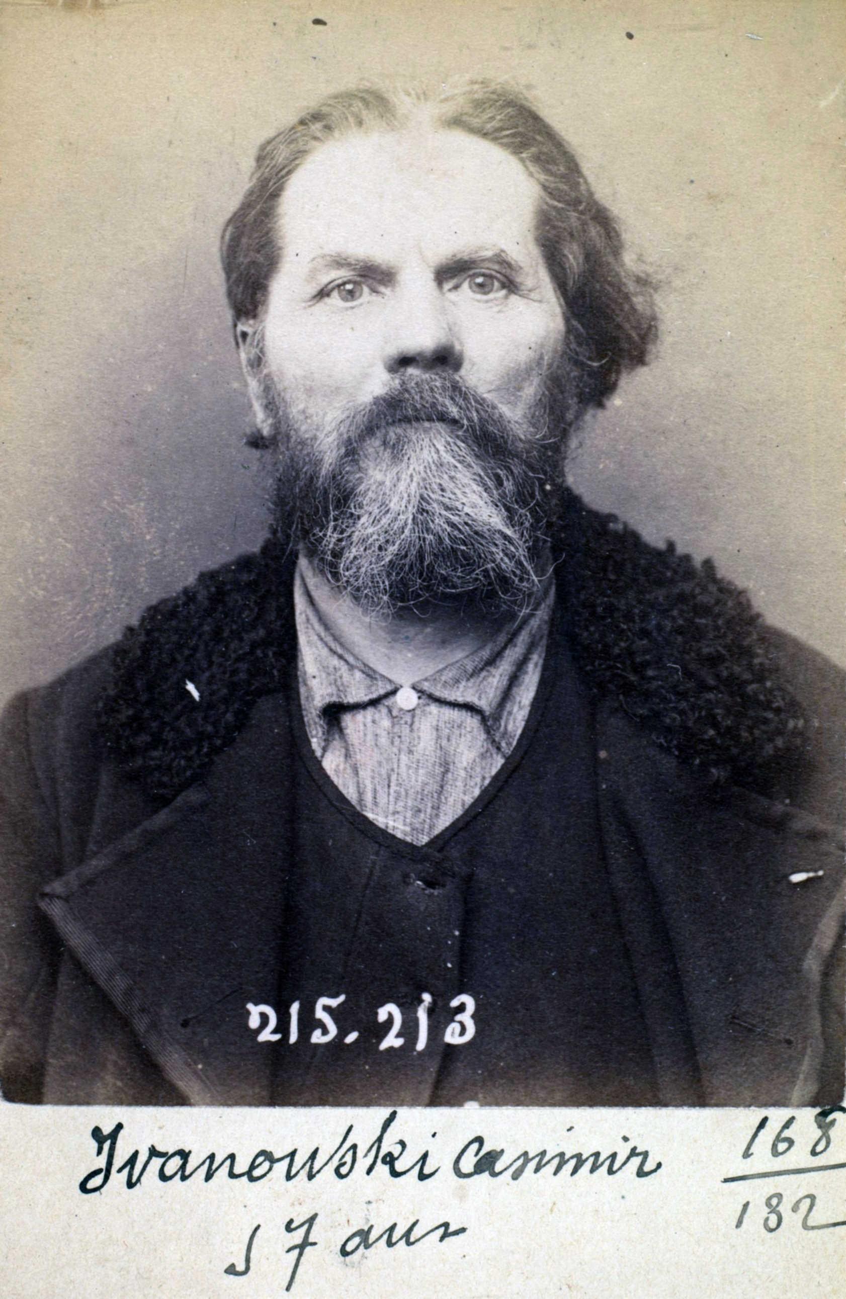 Foto policíaca de Casimir Iwanowski (6 de març de 1894)