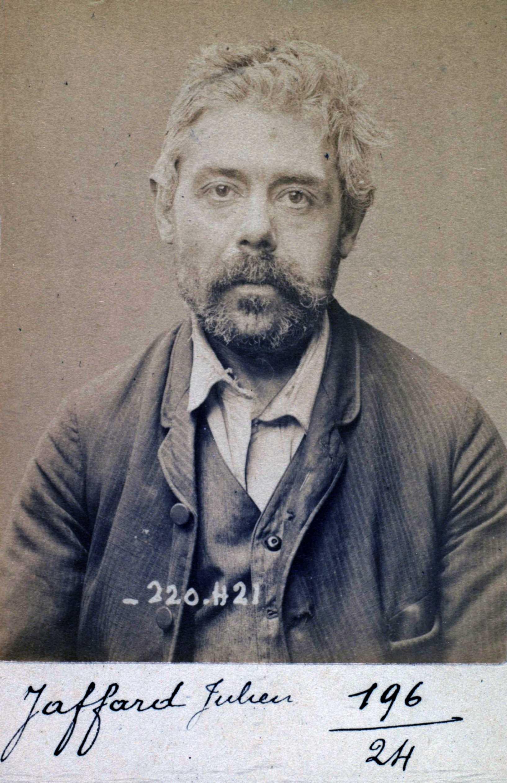 Foto policíaca de Julien Jaffard (2 de juliol de 1894)