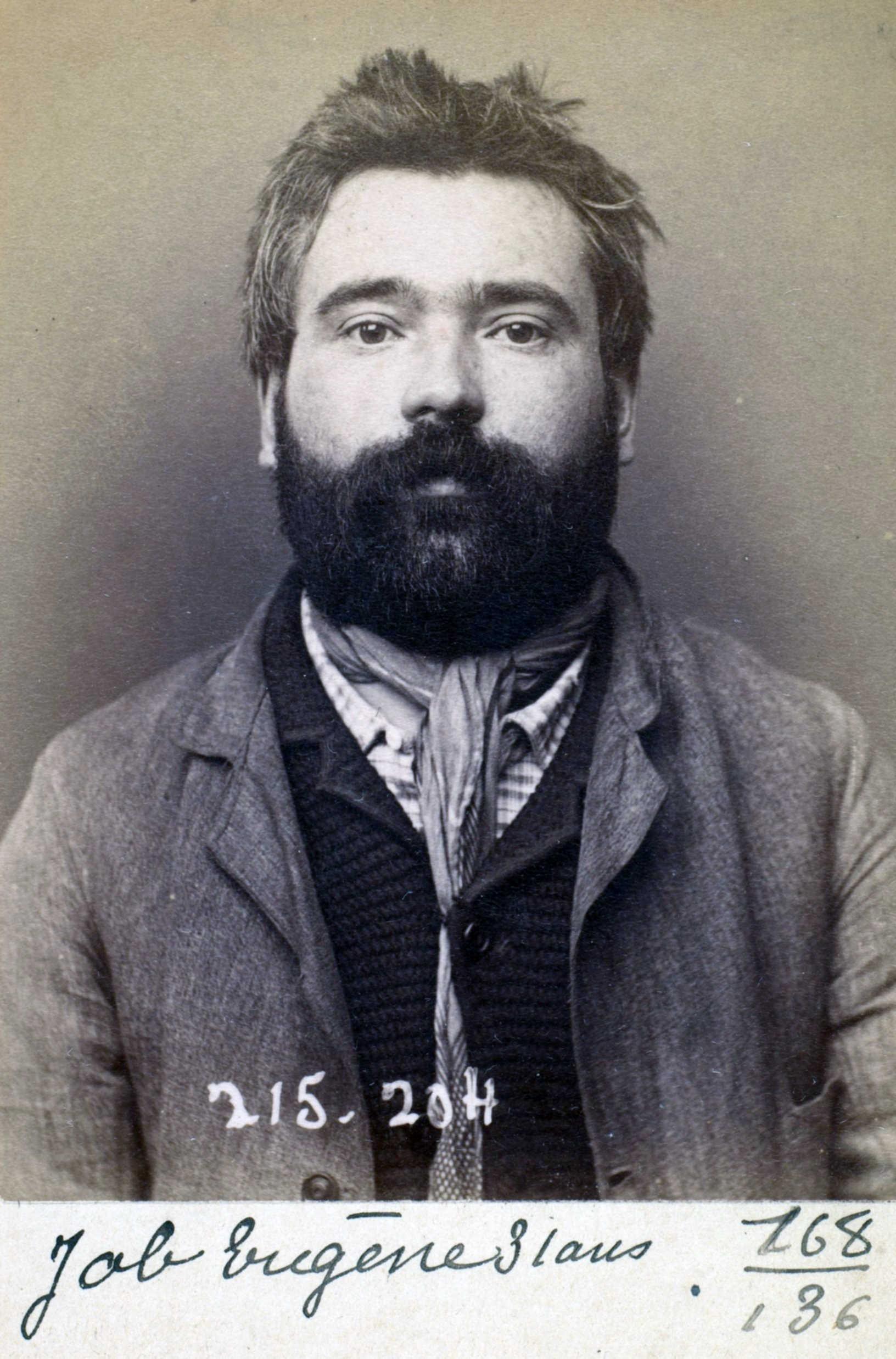 Foto policíaca d'Eugène Job (6 de març de 1894)