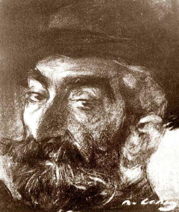 Josep Lluís Pellicer i Fenyé en un retrat al carbó de Ramon Casas
