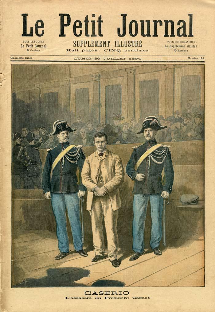 "El judici de Sante Geronimo Caserio segons el periòdic parisenc ""Le Petit Journal"" del 20 de juliol de 1894"