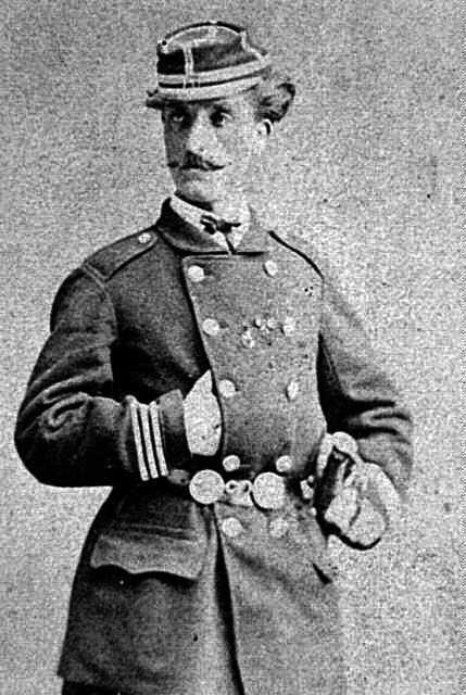 Jules Montels amb l'uniforme de militar de la Comuna (1871)