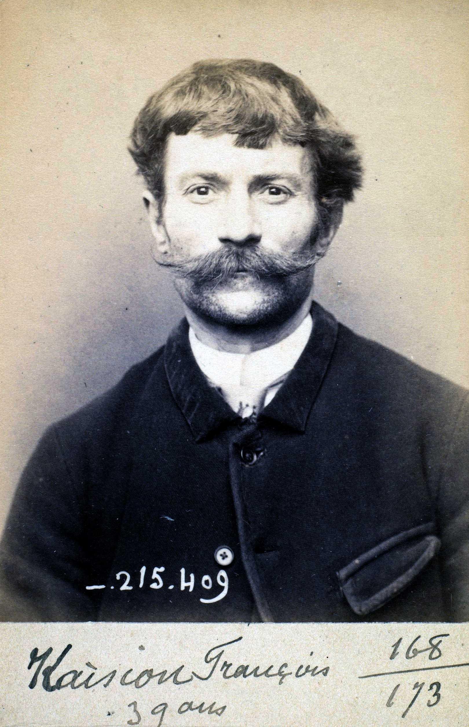 Foto policíaca de François Kaision (9 de març de 1894)