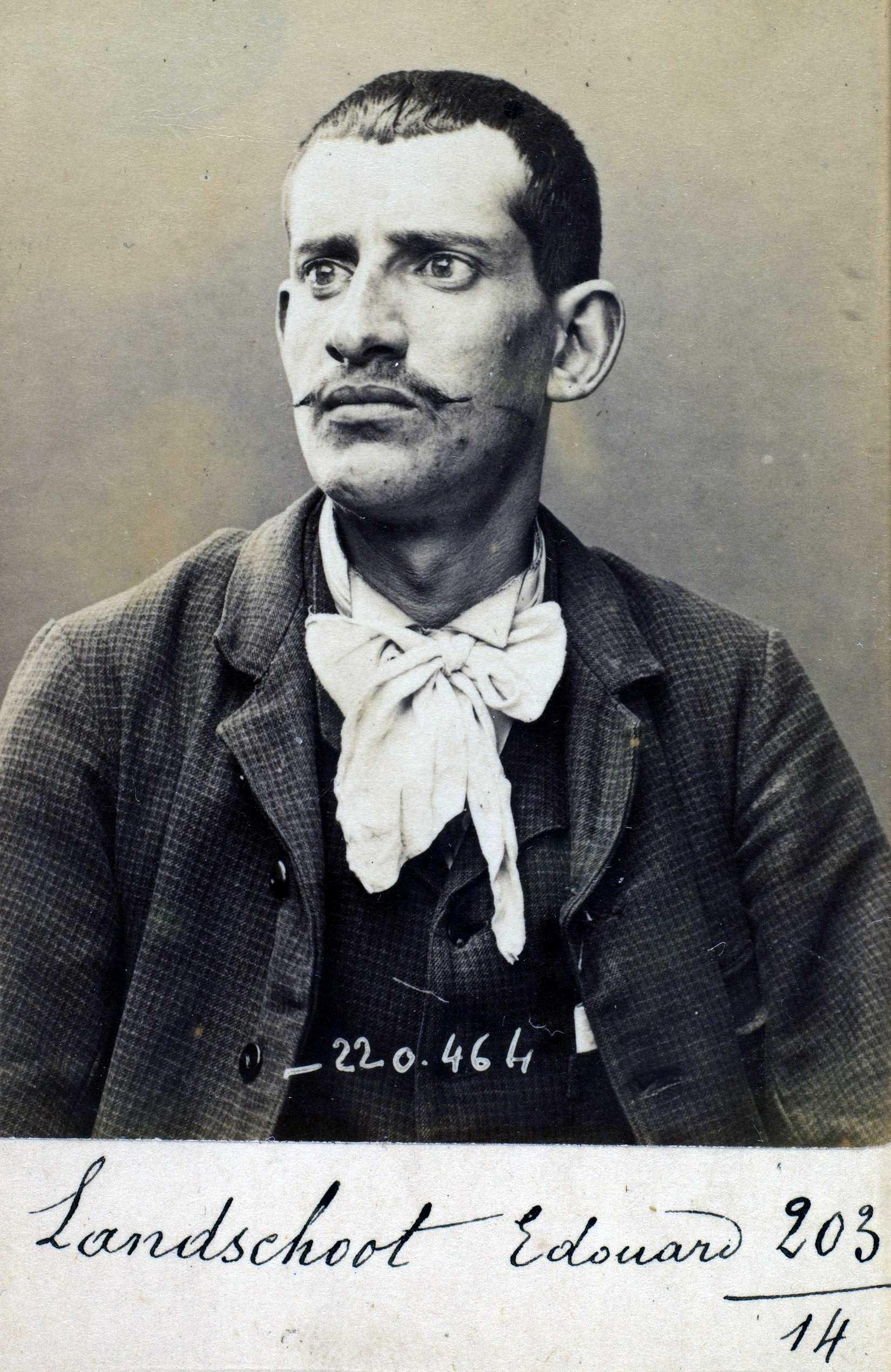 Foto policíaca d'Edouard Landschoot (2 de juliol de 1894)