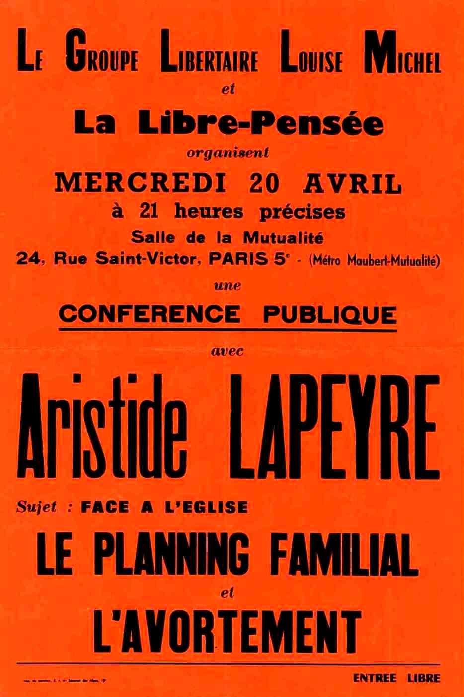 Cartell de la conferència de Lapeyre