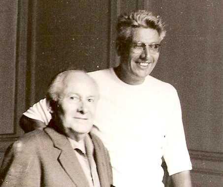 Aristide Lapeyre y André Arruit (derecha) en Burdeos (circa 1972)