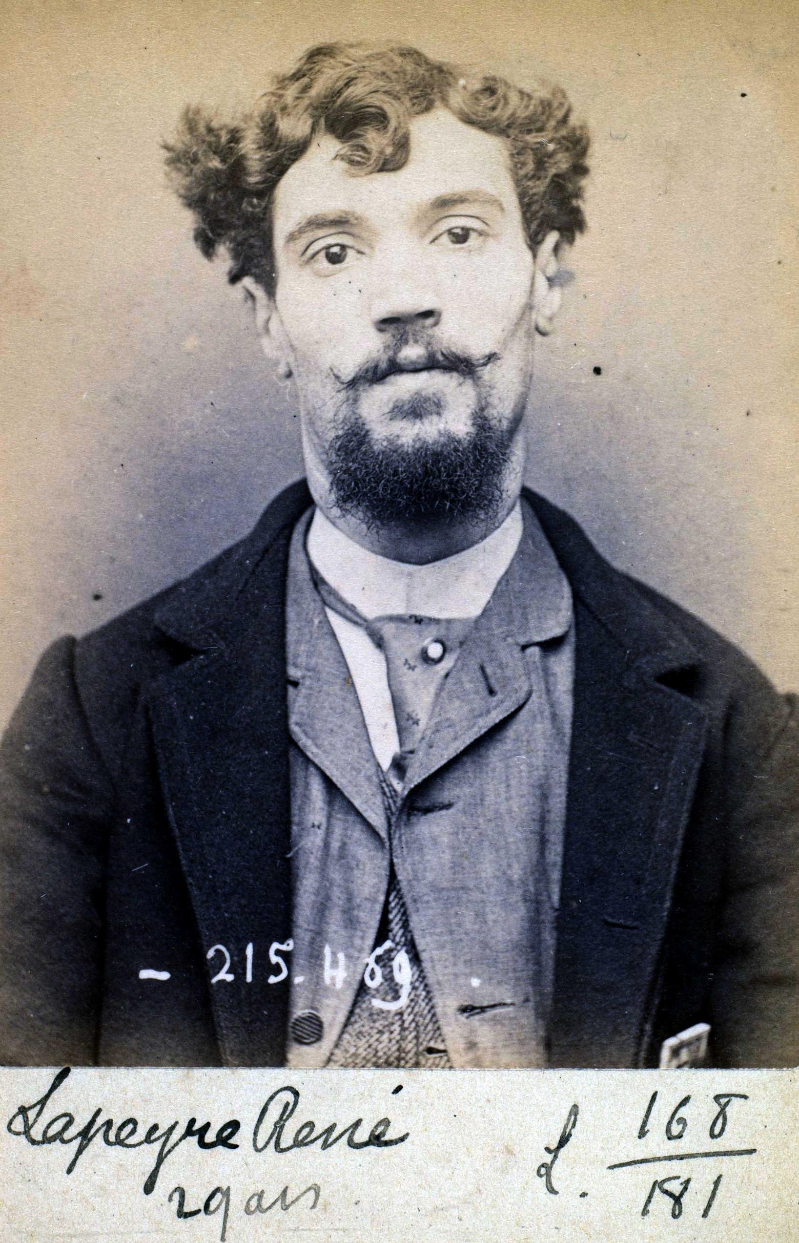Foto policíaca de Pierre Lapeyre (10 de març de 1894)