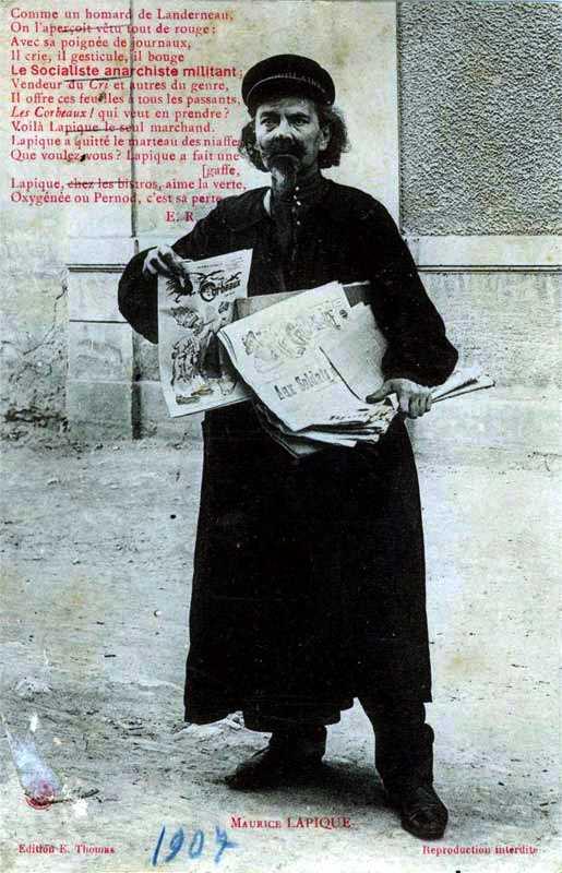 Maurice Lapique en una postal de l'època [cartoliste.ficedl.info]