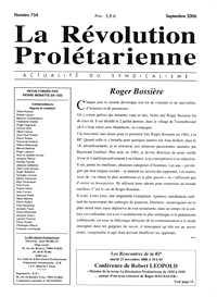"Ejemplar de ""La Révolution Proletarienne"""