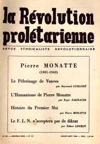 """Un exemplar de """"La Révolution Prolétarienne"""""""