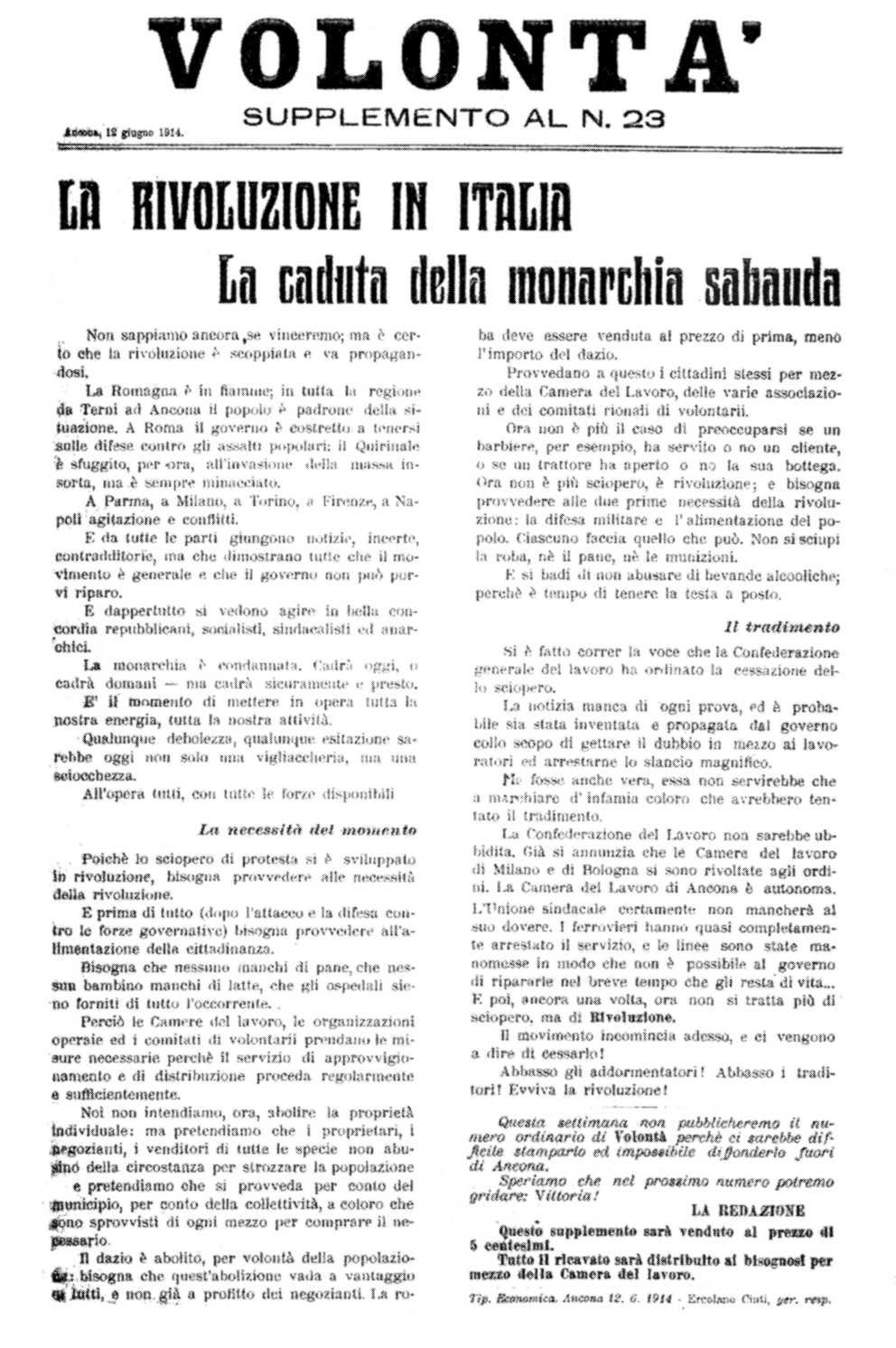 """Portada de """"La Rivoluzione in Italia"""""""