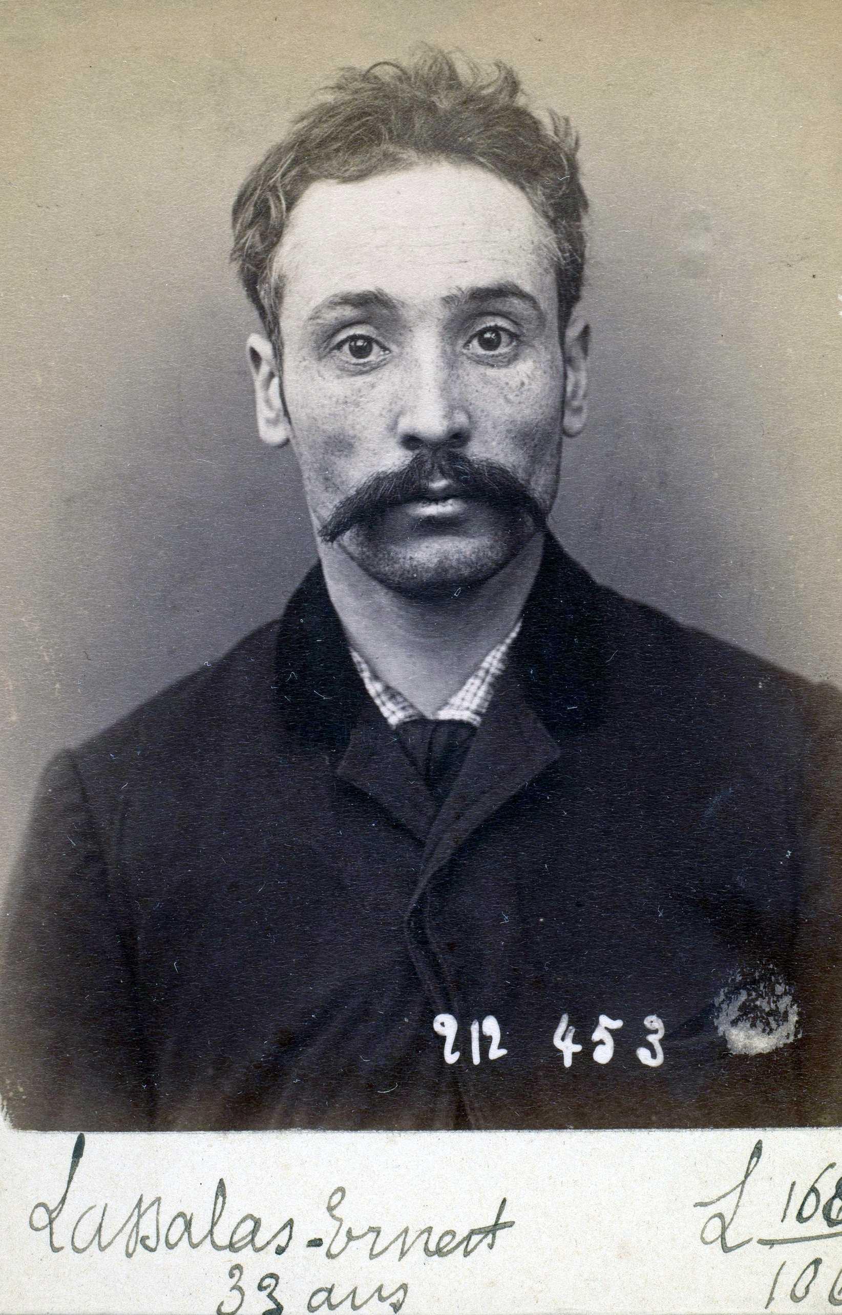 Foto policíaca d'Ernest Lassalas (2 de gener de 1894)