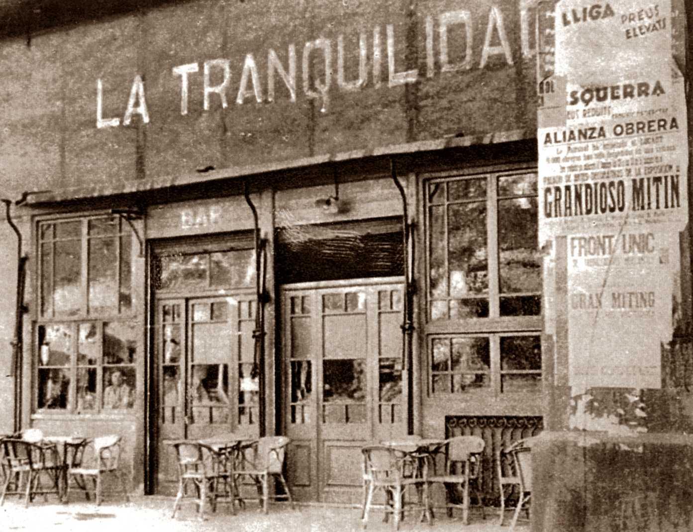 "Bar ""La Tranquilidad"" de Barcelona"