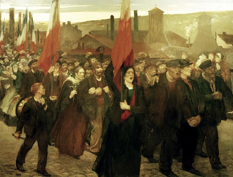"""Jules Adler: """"La Grève ave Creusot"""" (1899)"""