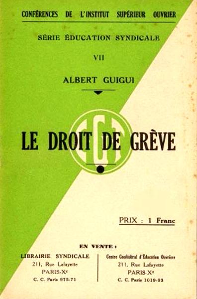 """""""Le droite de grève"""" (1937)"""