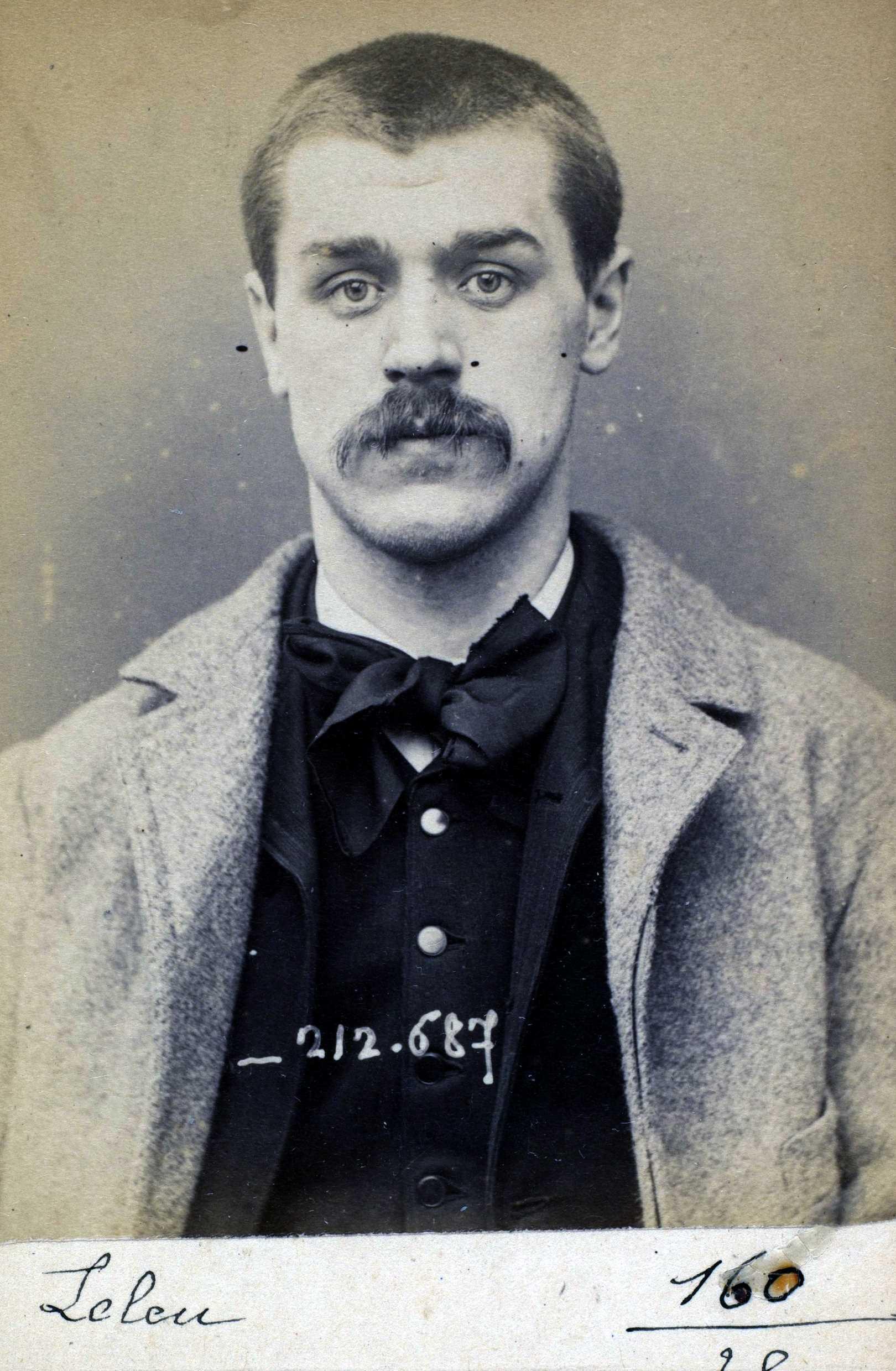Foto policíaca de Victor Leleu (9 de gener de 1894)