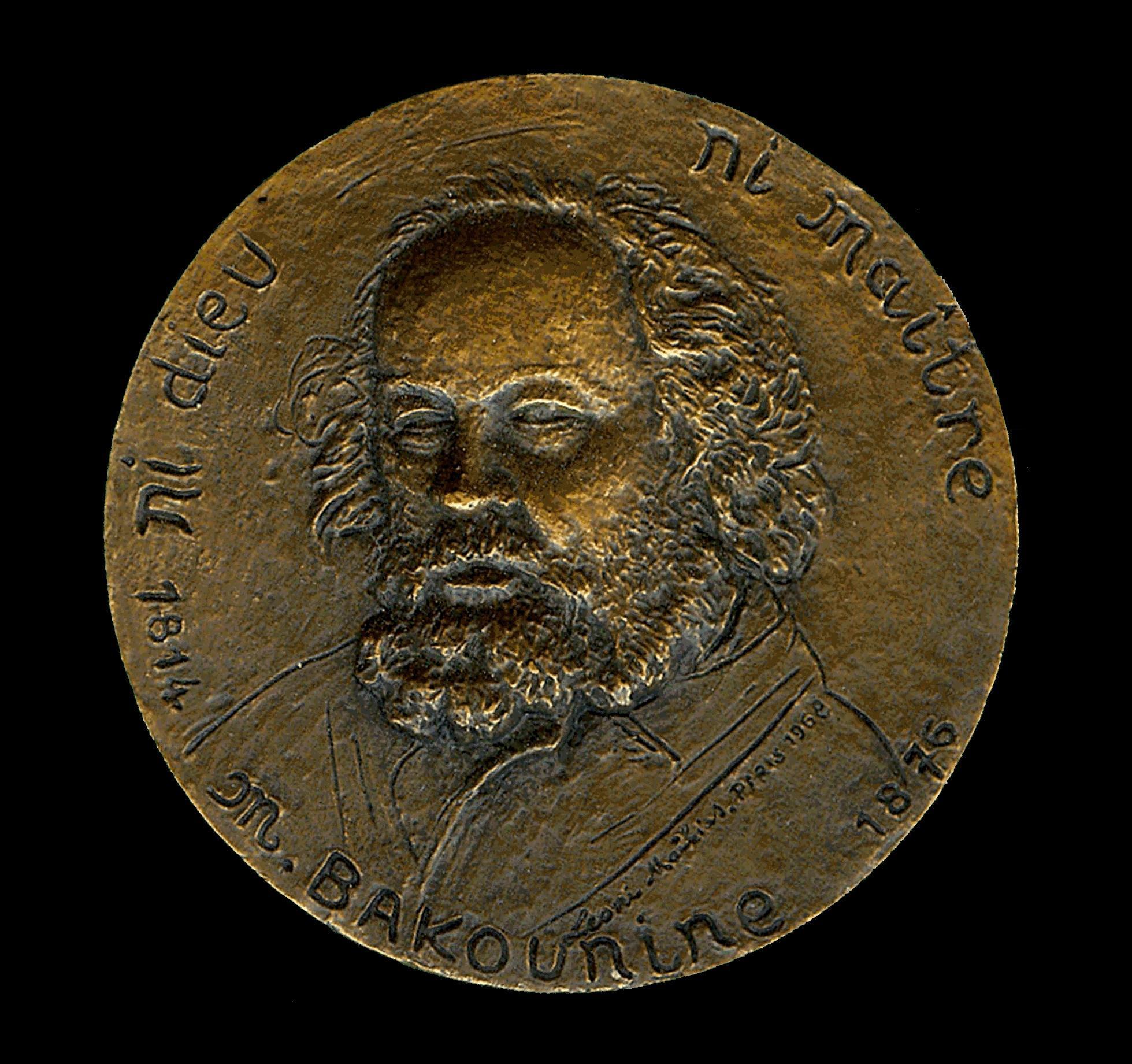 Medalla de Bakunin realitzada per Mattia Léoni (1968)