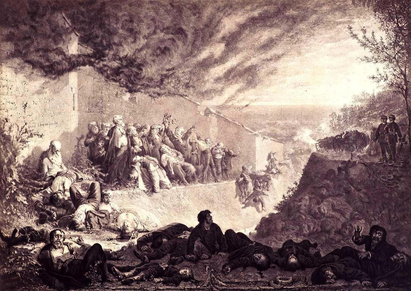 """Ernest Pichio: """"Le triomphe de l'ordre"""" (1877)"""