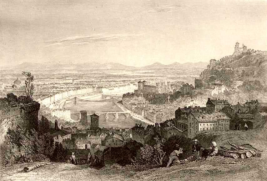 Lyon visto desde el barrio de la Croix-Rousse (1869)